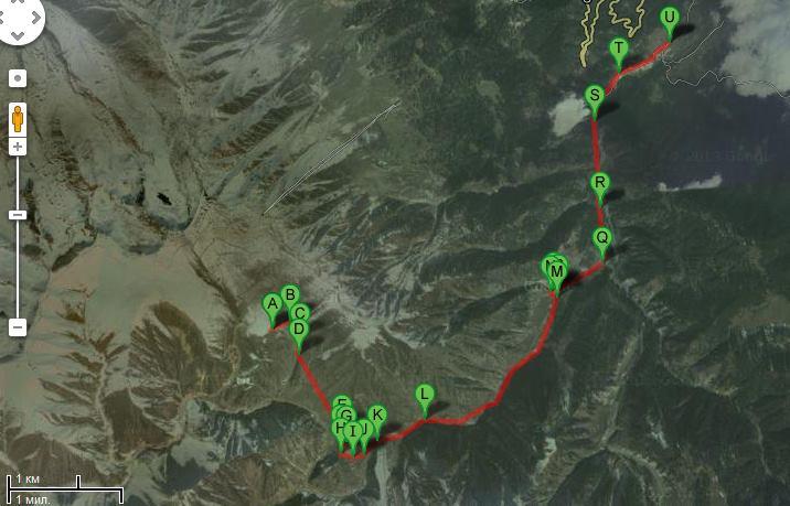 А вот таким он был - наш маршрут. Надеемся, что его никто не будет повторять :)